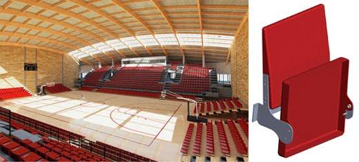 Nova sportska hala u Inđiji opremljena sportskim stolicama folding
