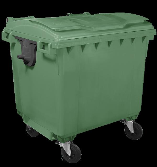 Plastic container 1100l (Flat lid)