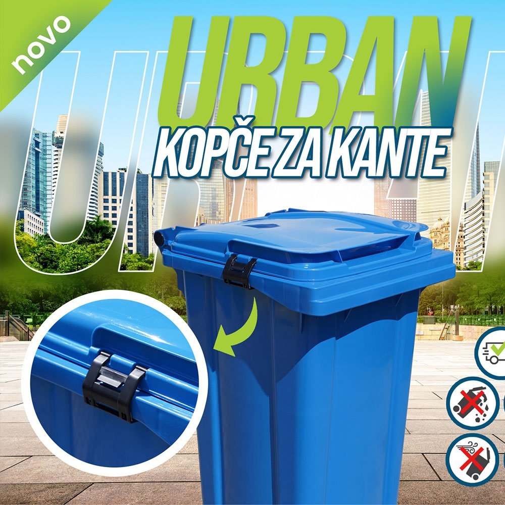Clamps for waste bins Urban