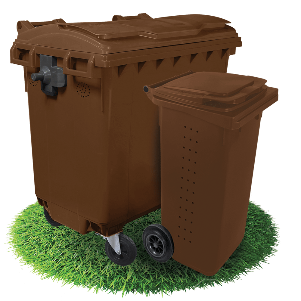 Plastic containers and bins for bio waste
